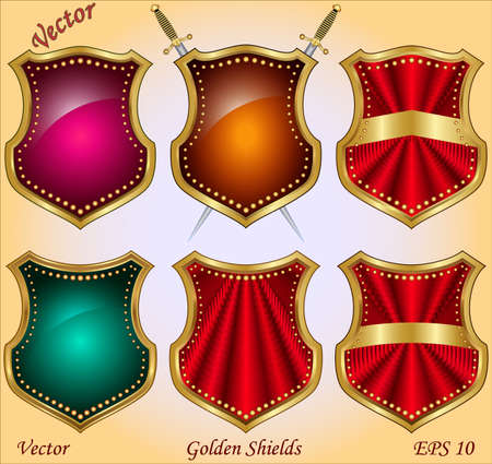 Golden Shields  Stock Vector - 15499941