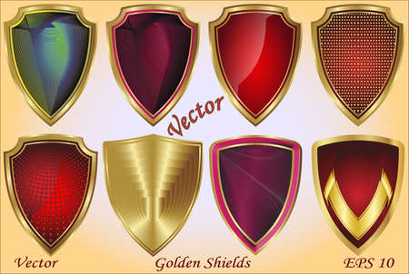Golden Shields  Stock Vector - 15499958