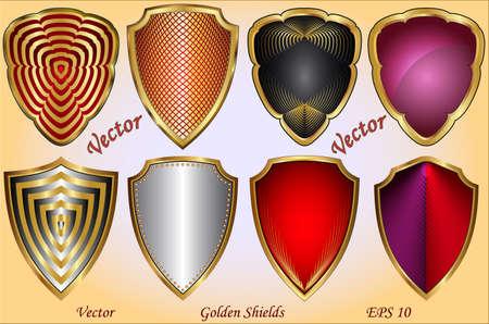 shield wings: Golden Shields