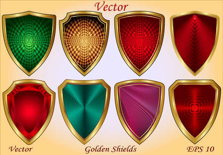 Golden Shields  Stock Vector - 15499929