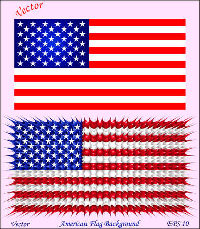 american flag background: American Flag Background Illustration
