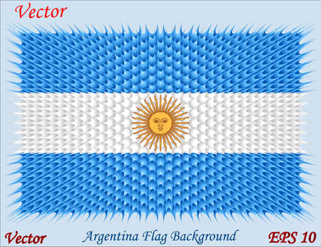 Argentina Flag Backgrond Vector