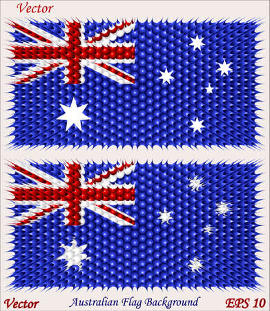 australische flagge: Australische Flagge Backgrond Illustration