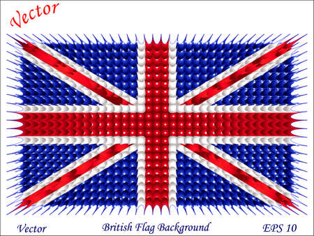 British Flag Background Stock Vector - 15504727