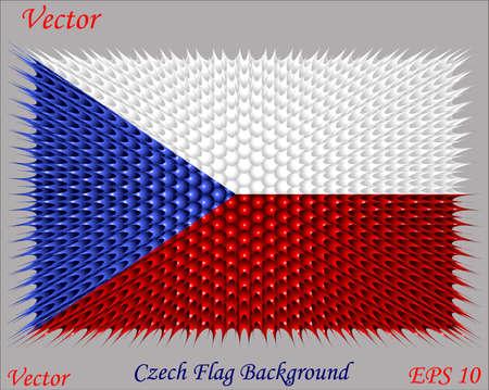 czech flag: Ceca Bandiera Sfondo