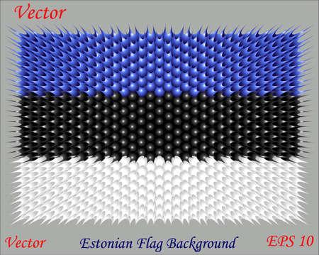 Estonian Flag Background Stock Vector - 15504639
