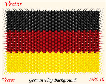 German Flag Background  Vector