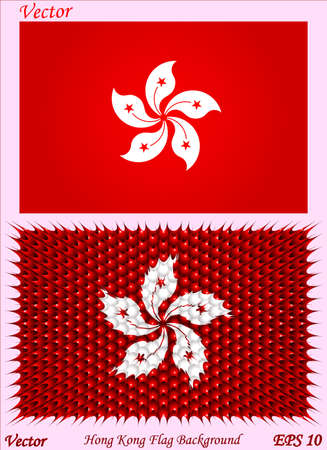 Hong Kong Flag Background Vector