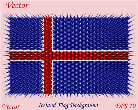 flag of iceland: Islandia fondo de la bandera
