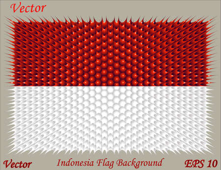 Indonesia Flag Background Stock Vector - 15504648