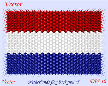 patriotic border: Netherlands flag background Illustration
