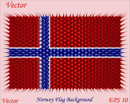 official symbol: Norwey Flag Background Illustration