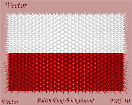 Polish Flag Background Stock Vector - 15504637