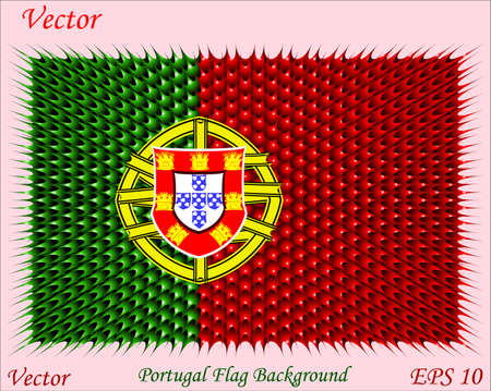 Portugal Flag Background Stock Vector - 15504650