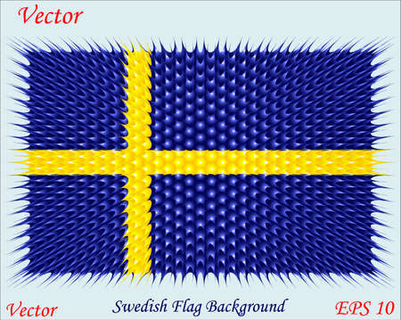 Swedish Flag Background Vector