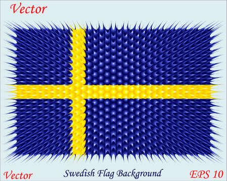 swedish: Swedish Flag Background Illustration