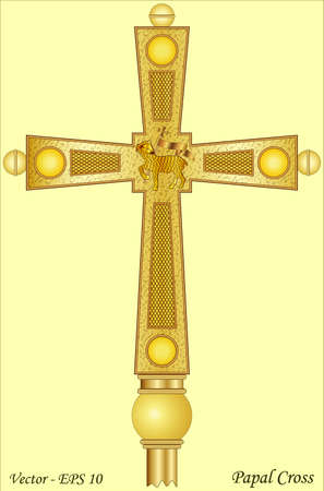 Papal Cross Vector