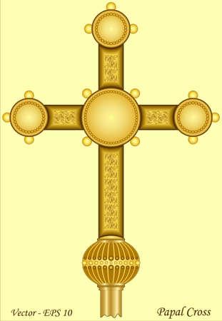 Papal Cross Vector