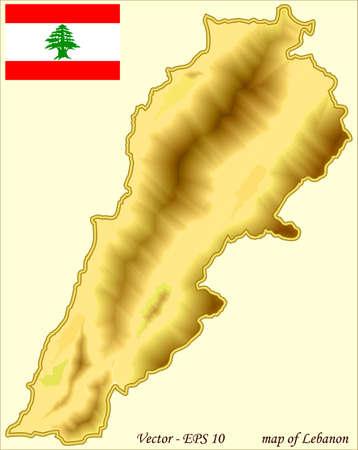 Map of Lebanon Vector