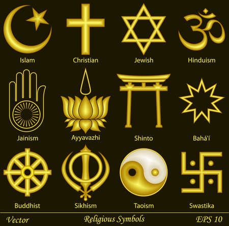 Religious Symbols Stock Illustratie