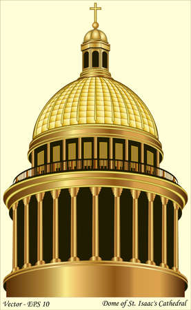 isaac s: Dome of St  Isaac s Cathedral Illustration