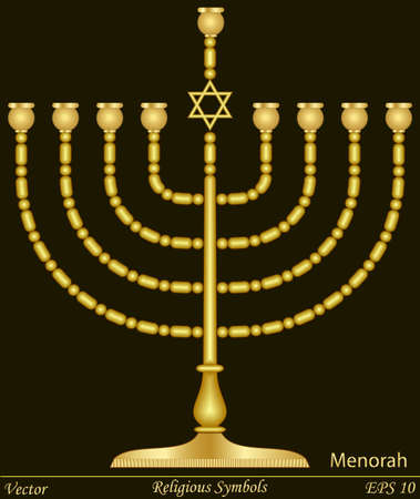 jewish star: Religious Symbols Illustration