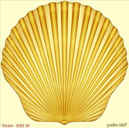 aquaculture: Golden Shell Illustration
