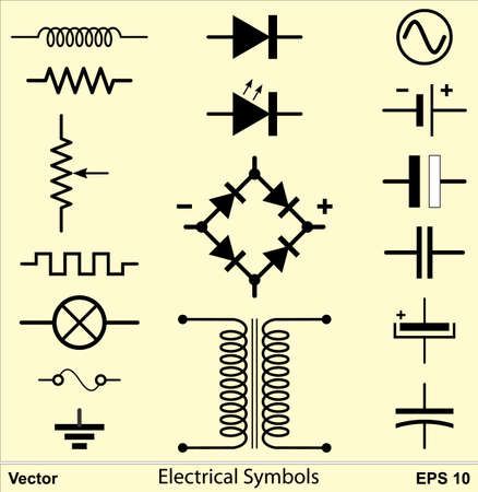 variable: Electrical Symbols Illustration