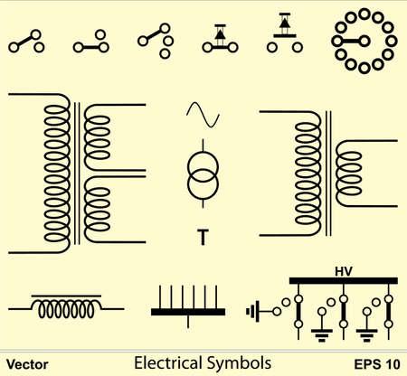 spirale: Elektrische Symbole Illustration
