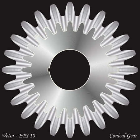 Conical Gear  Stock Vector - 16710936