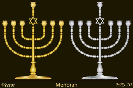 jewish star: Menorah