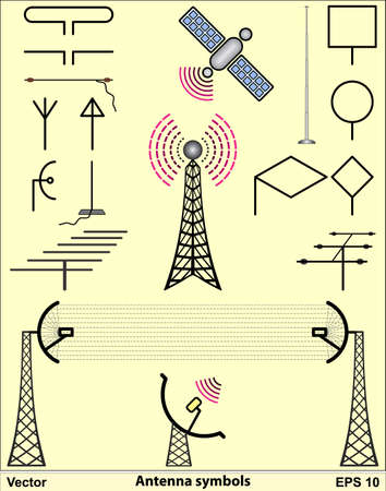 communications tower: Antenna symbols