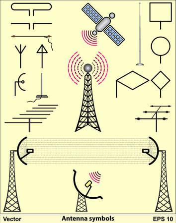 microwave antenna: S�mbolos de antena