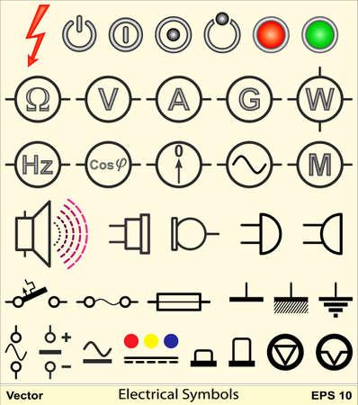 発電機: 電気設備記号  イラスト・ベクター素材