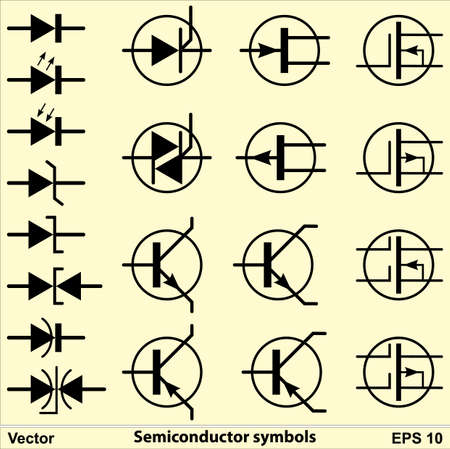 Semiconductor Symbols 矢量图片