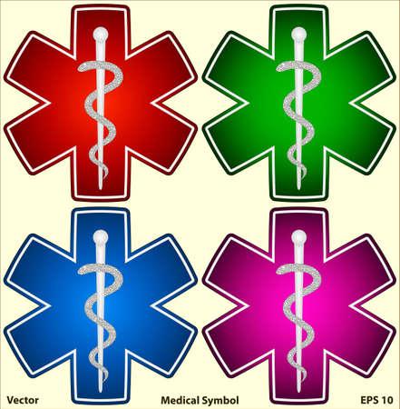 medical symbol: S�mbolo m�dico