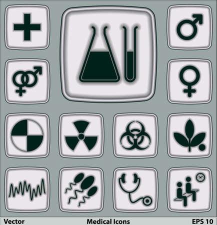 iconos medicos: Iconos m�dicos fijados