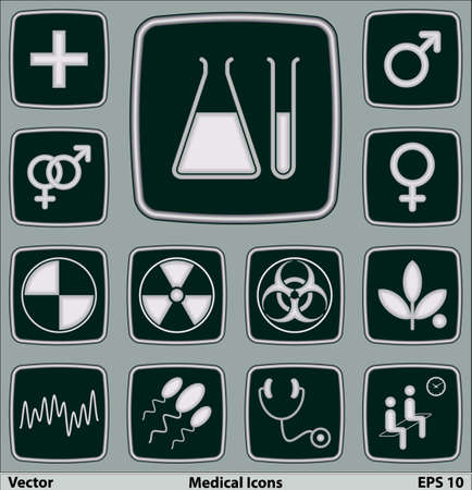 Medical icons set Stock Vector - 17124052