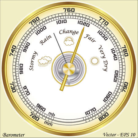 weather gauge: Barometer