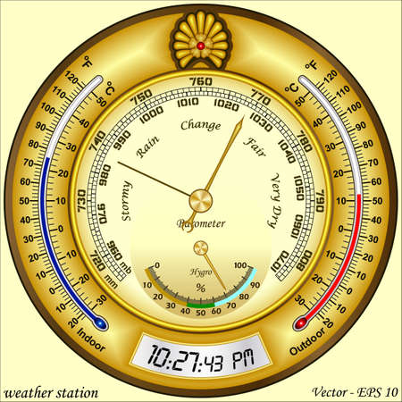 weather station Vector