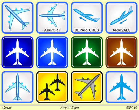 Airport Signs Stock Vector - 18063039