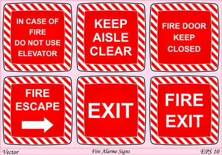 strictly: Fire Alarme Signs  Illustration
