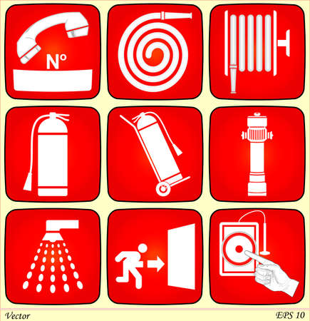 fire safety: Fire Alarme Signs  Illustration