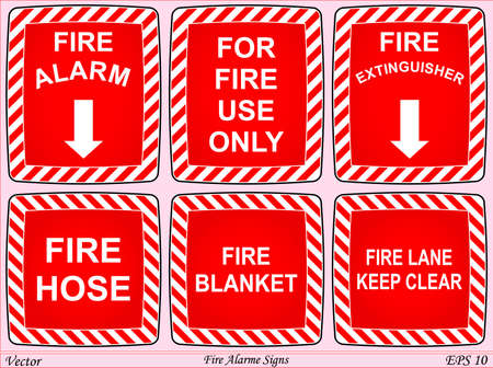 Fire Alarme Signs  Stock Vector - 18276202