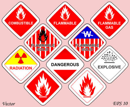 Warnings Signs Stock Vector - 18276204