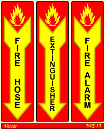 Fire Alarm Signs Stock Vector - 18310807