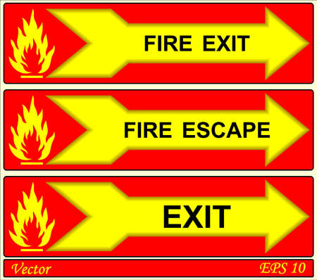Fire Alarm Signs Stock Vector - 18310808