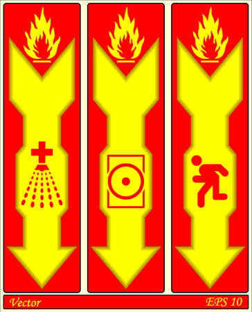 Fire Alarm Signs Stock Vector - 18310809