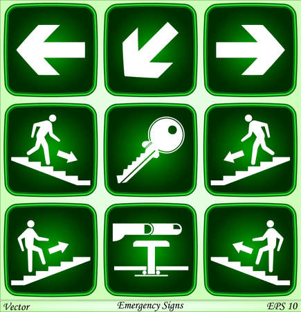 Emergency signs  Vector