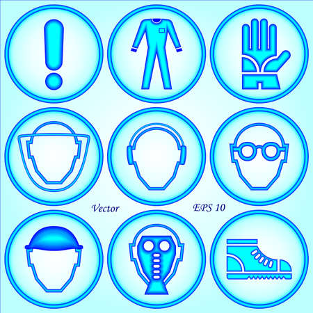 safety goggles: Safety Signs